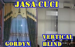 cuci gorden vertical (Vertical Curtain Cleaning)