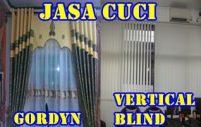 cuci gorden vertical (Vertical Curtain Cleaning)